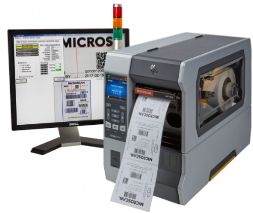 Zebra label printer with in-line verifier