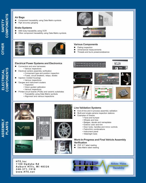 Automotive machine vision inspection