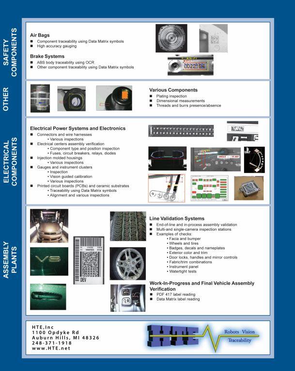 Automotive machine vision inspection